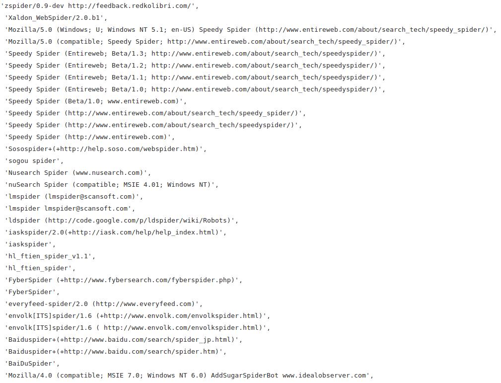 Python爬虫之UserAgent-机器在学习